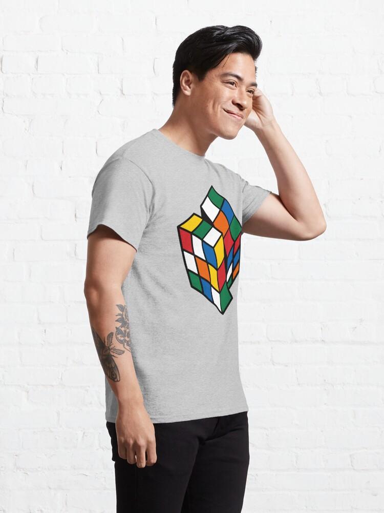 Alternate view of Rubik's Cube - Cuber Solving - Cubing Habit  Classic T-Shirt