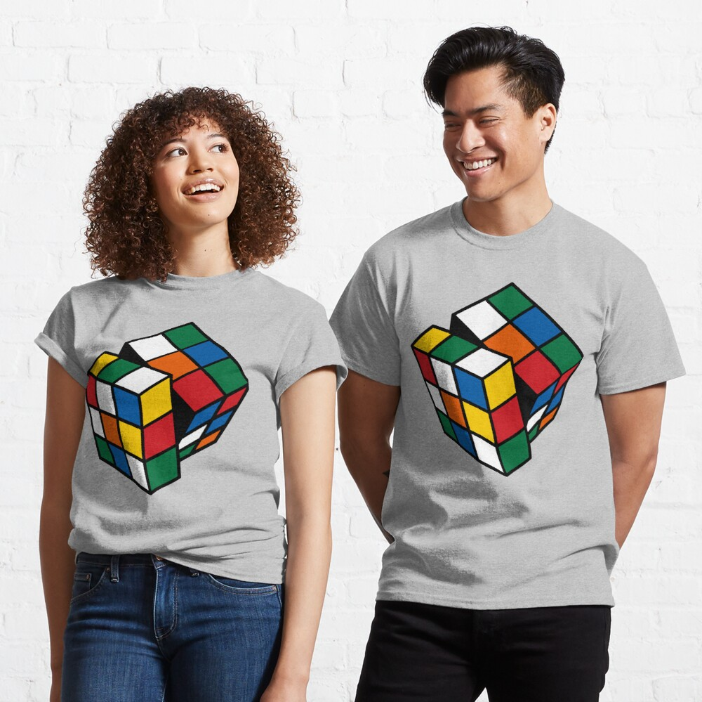 Rubik's Cube - Cuber Solving - Cubing Habit  Classic T-Shirt