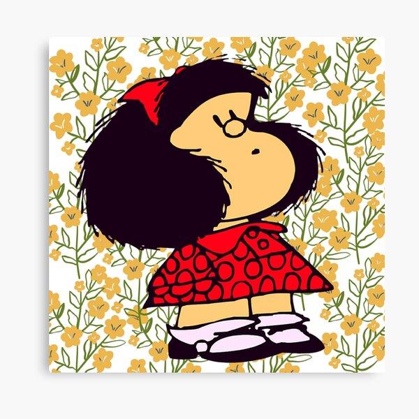 Mafalda and flowers Lienzo