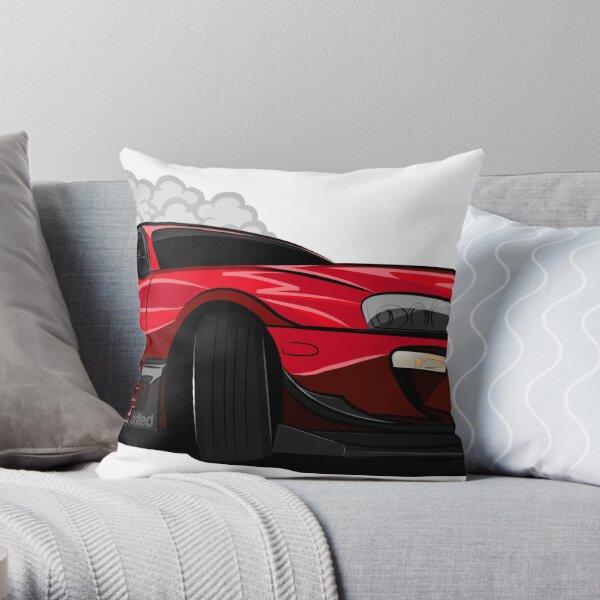 Toyota Supra Drift Car - Drifted Exclusive Throw Pillow