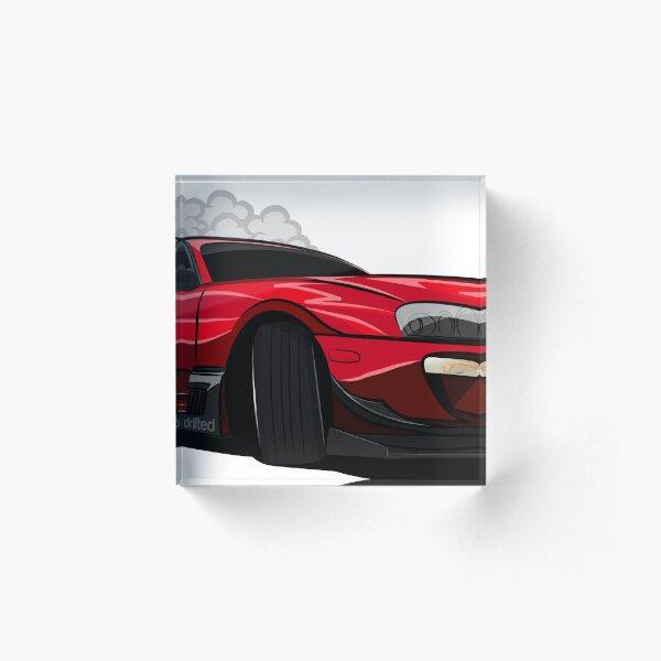 Toyota Supra Drift Car - Drifted Exclusive Acrylic Block