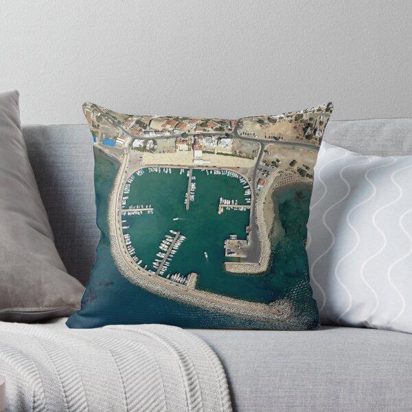Birds eye view of Zygi Marina Throw Pillow