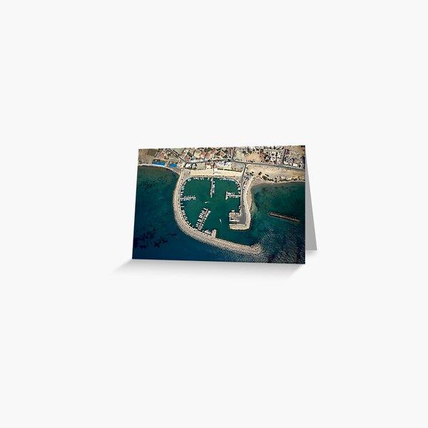 Birds eye view of Zygi Marina Greeting Card