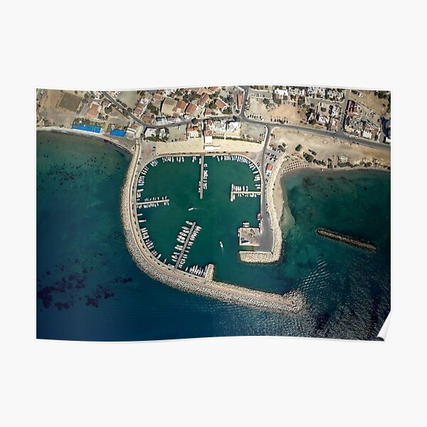 Birds eye view of Zygi Marina Poster