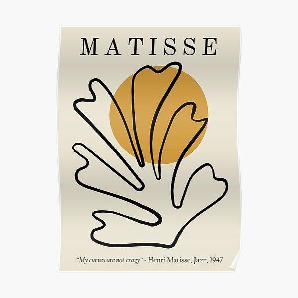 Henri Matisse - Conception de lithographie de découpes - Mes courbes ne sont pas folles Poster