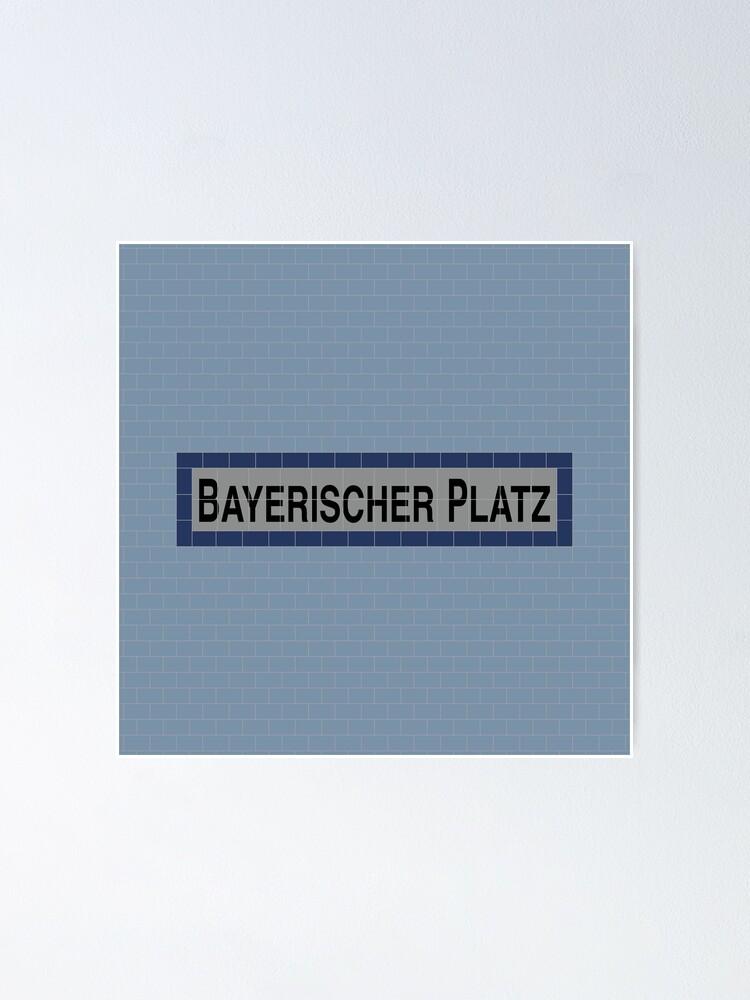 Alternate view of Bayerischer Platz Station Tiles (Berlin U4) Poster