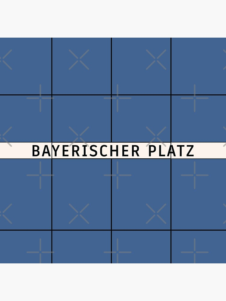 Bayerischer Platz Station Tiles (Berlin U7) by in-transit