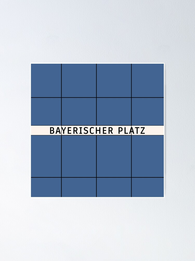 Alternate view of Bayerischer Platz Station Tiles (Berlin U7) Poster