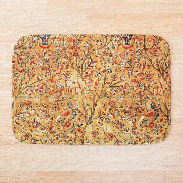 Antique Persian Tree of Life Kashan Rug Print Bath Mat
