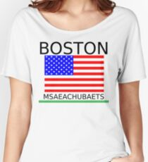 BOSTON, MSAEACHUBAETS Women's Relaxed Fit T-Shirt