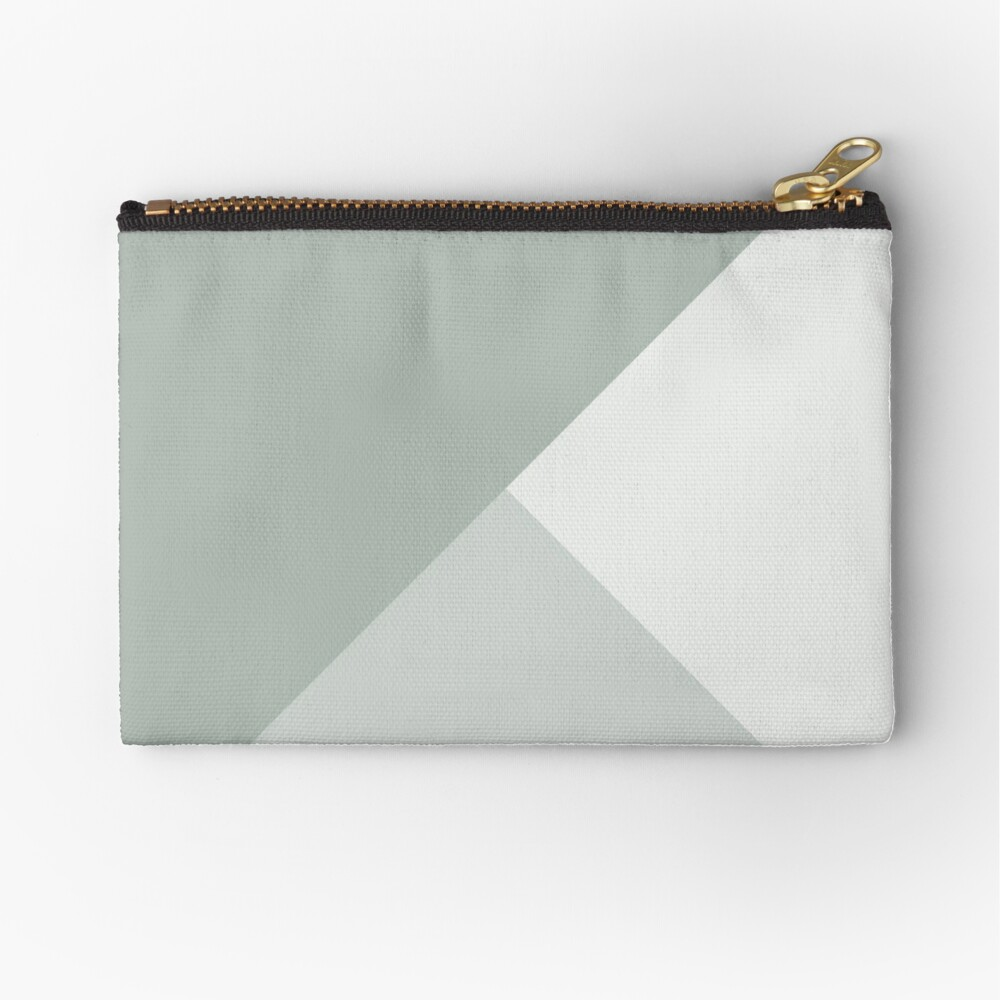 Gradient Geometry - Ash Zipper Pouch