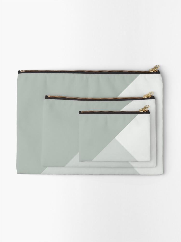 Alternate view of Gradient Geometry - Ash Zipper Pouch