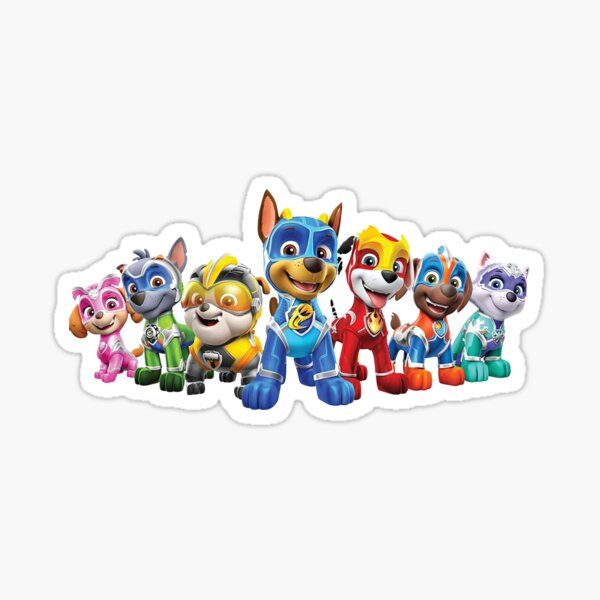 Paw Patrol Mighty Pups Super Paws Sticker