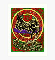 Celtic Cat #60 Art Print