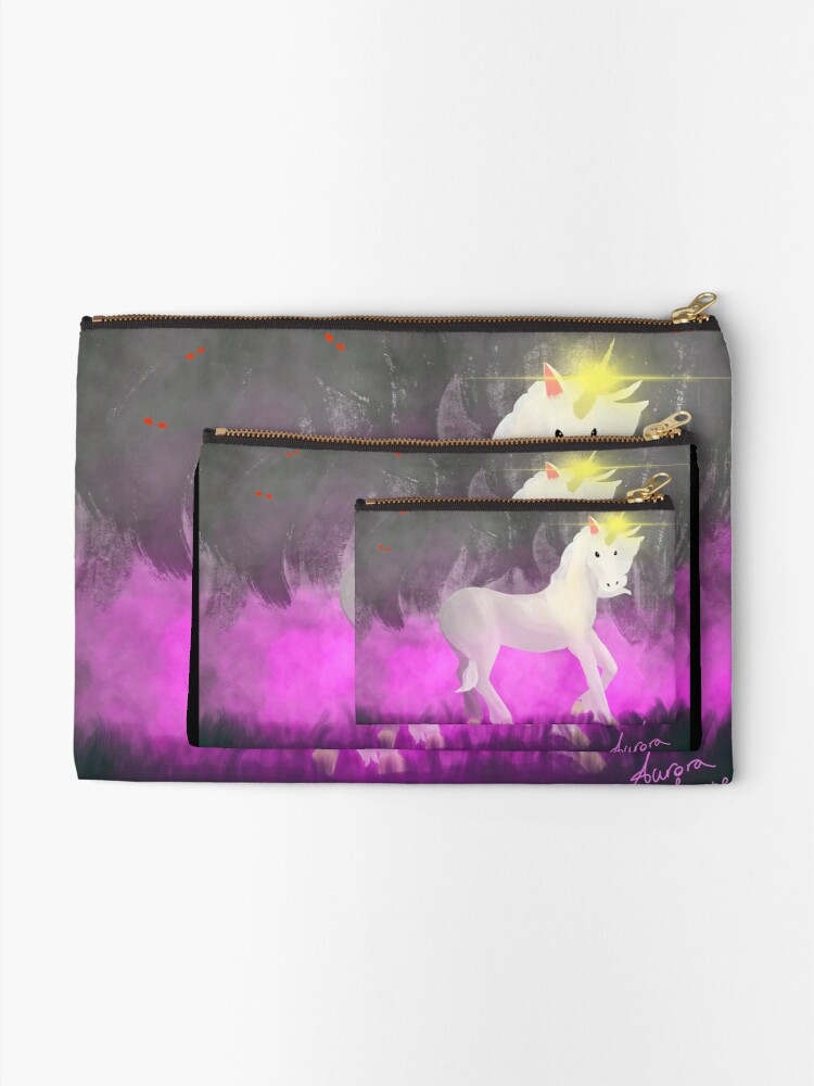 Alternate view of Unicorn Zipper Pouch