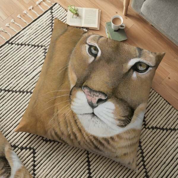 Mountain Lion Floor Pillow