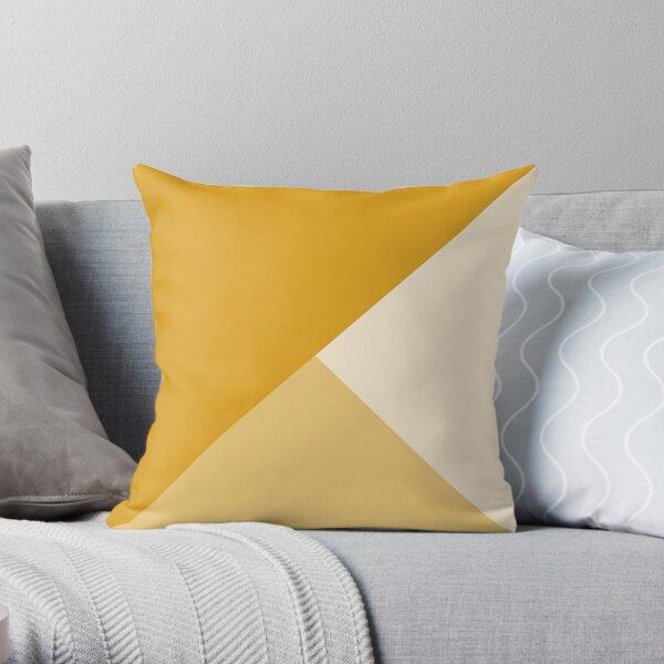 Gradient Geometry - Mustard Throw Pillow