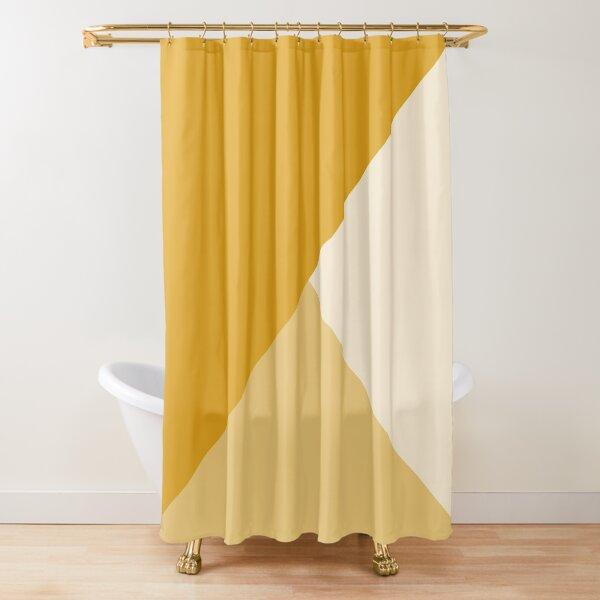 Gradient Geometry - Mustard Shower Curtain