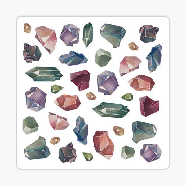 Crystals and Gemstones Sticker