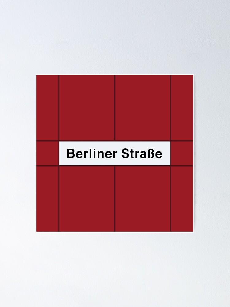 Alternate view of Berliner Straße Station Tiles (Berlin U9) Poster