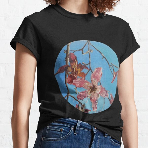 Lillies against a turquoise sky Classic T-Shirt