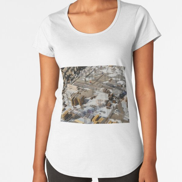 Construction site view from above Premium Scoop T-Shirt