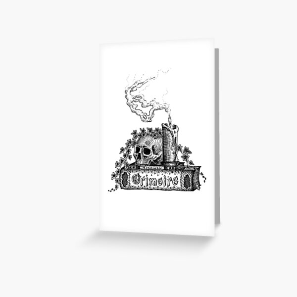 Grimoire Greeting Card