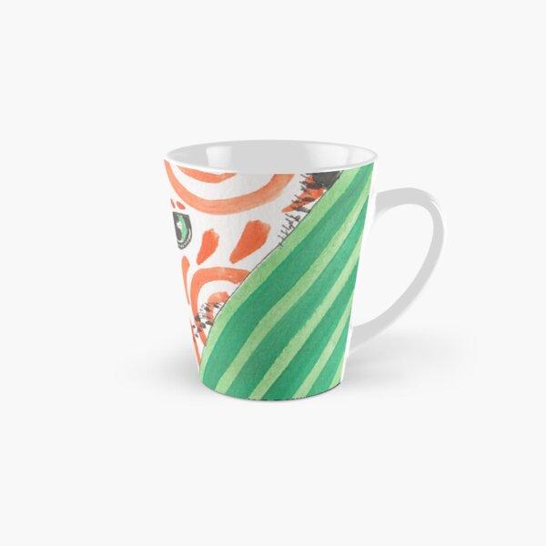 Patterned Cat Orange Swirls Tall Mug