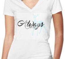 "In Memoriam - Alan Rickman ""Always"" Women's Fitted V-Neck T-Shirt"