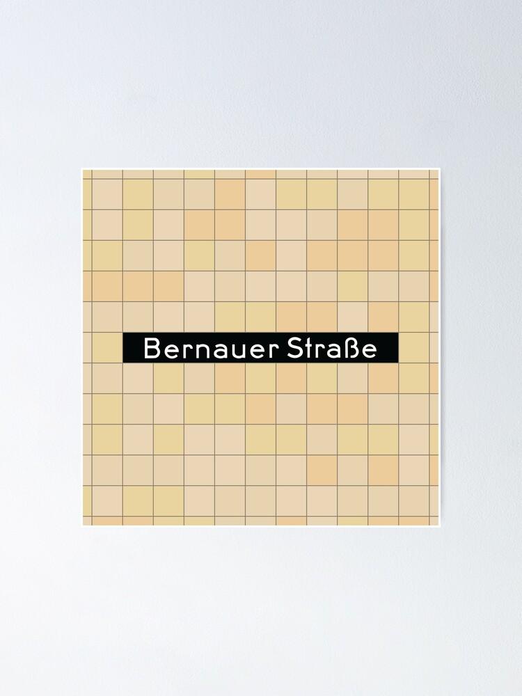 Alternate view of Bernauer Straße Station Tiles (Berlin) Poster