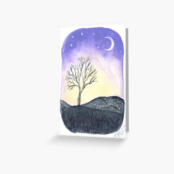 misty winter morning Greeting Card