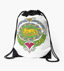 Celtic Cat 12 Mandala Tee Drawstring Bag