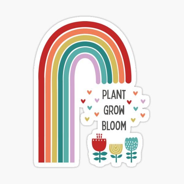Inspirational rainbow design Sticker