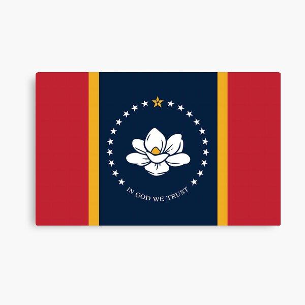 Mississippi New Magnolia Flag Canvas Print