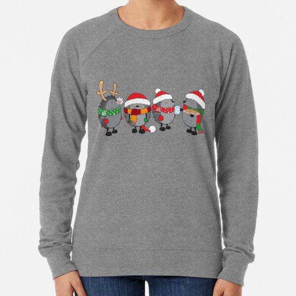 Christmas hedgehogs Lightweight Sweatshirt