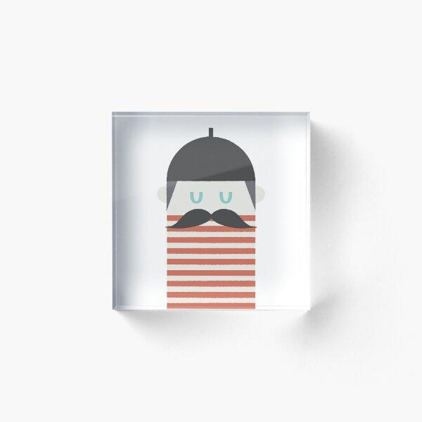 Moustache Man Acrylic Block