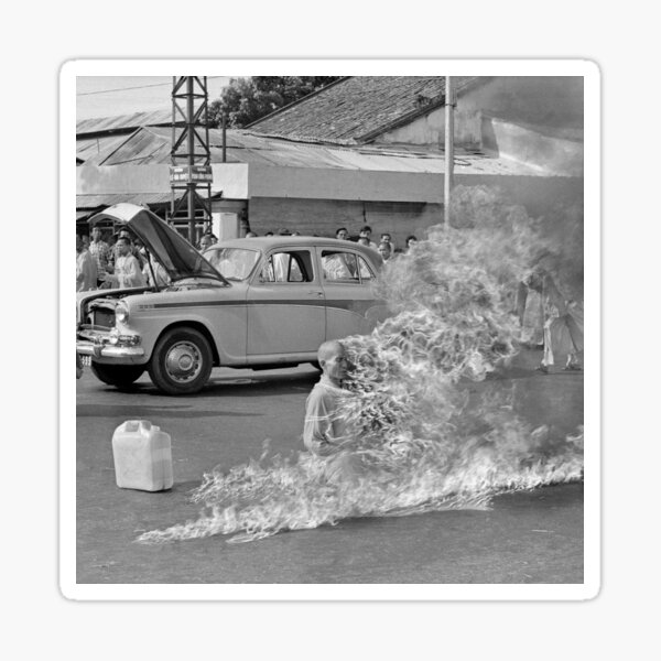 Rage Against the Machine burning monk Sticker