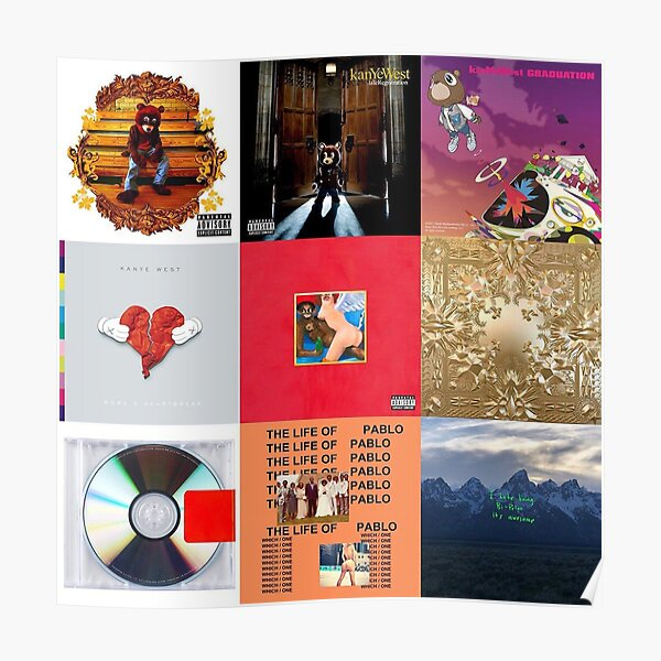 Kanye Poster Albums Poster