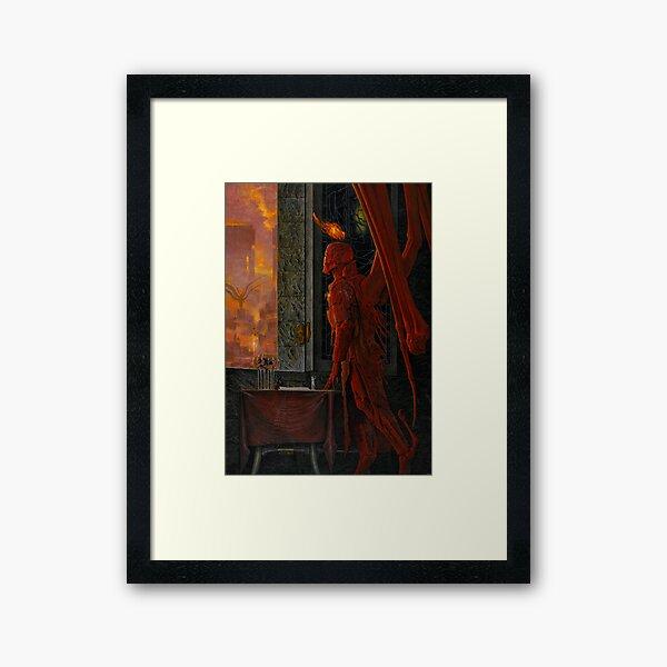 Eligor_God's Demon Cover_by Wayne Barlowe Framed Art Print