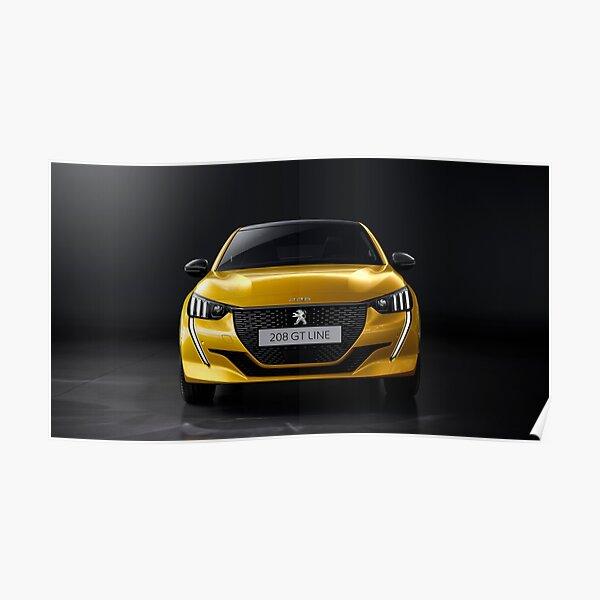 Peugeot 208 GT line face avant Poster