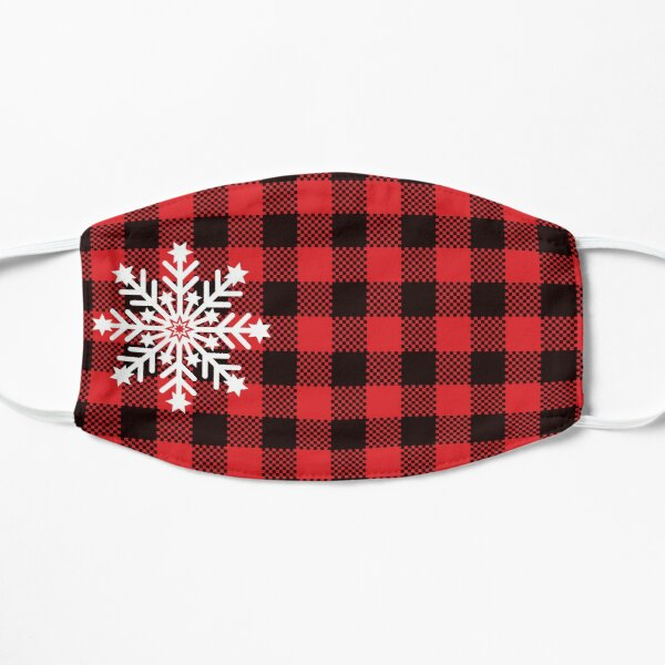 Christmas snowflake buffalo plaid mask Mask