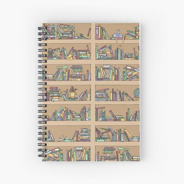 Messy Bookshelves Spiral Notebook