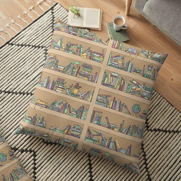 Messy Bookshelves Floor Pillow