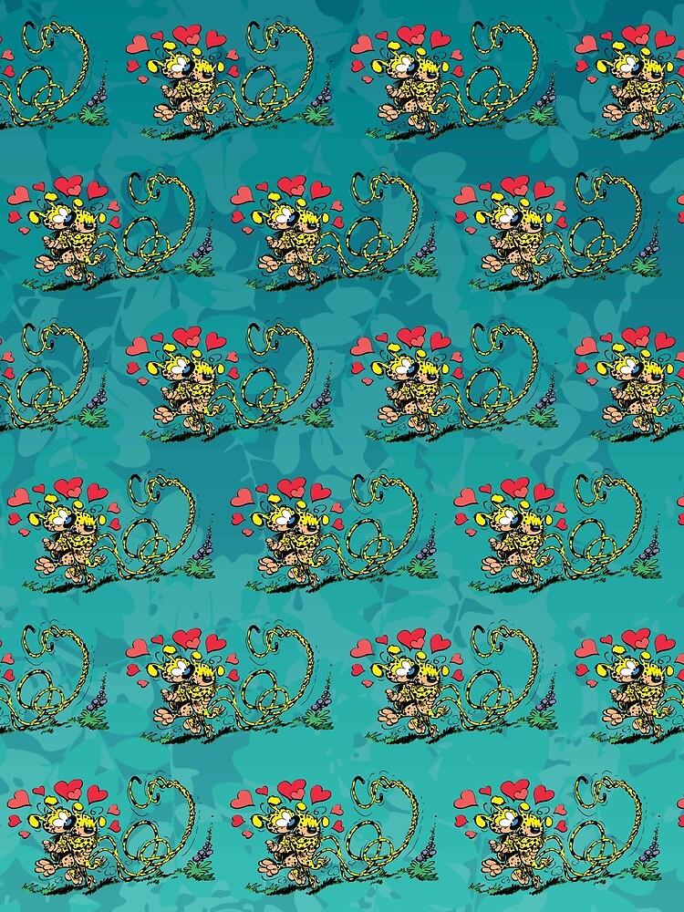 Marsupilami in love with girl / Aqua design / Pattern by Hubashop