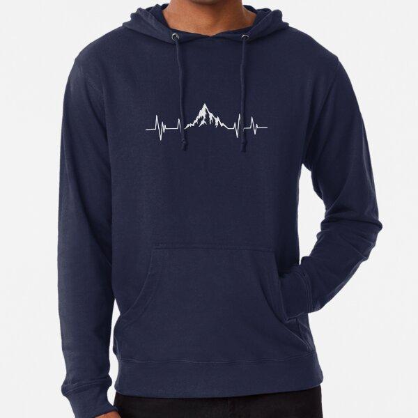 Mountain Bike Heartbeat Mountain Lifeline Lightweight Hoodie