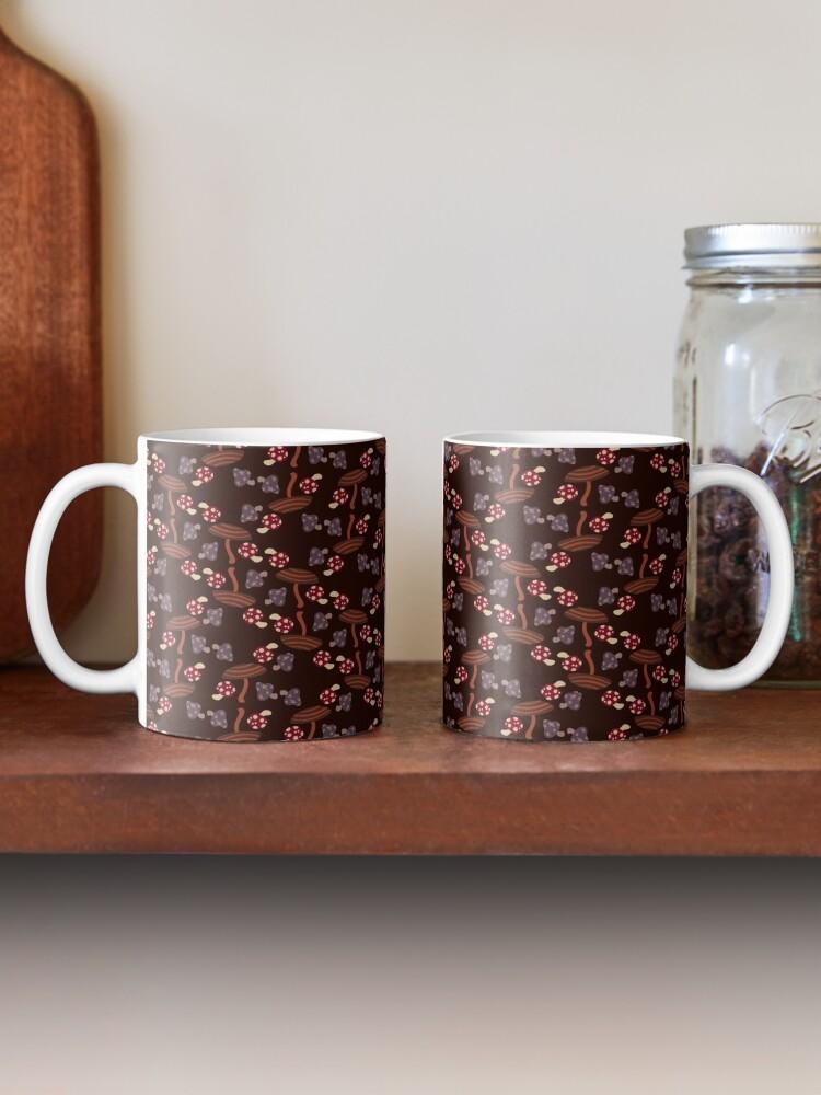 Alternate view of Falling for Autumn-Mushroom Pattern Mug