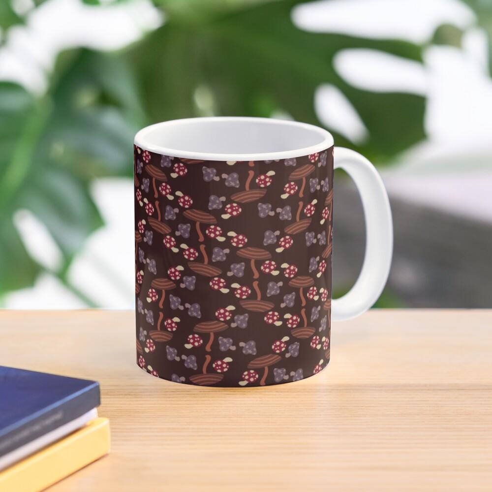 Falling for Autumn-Mushroom Pattern Mug