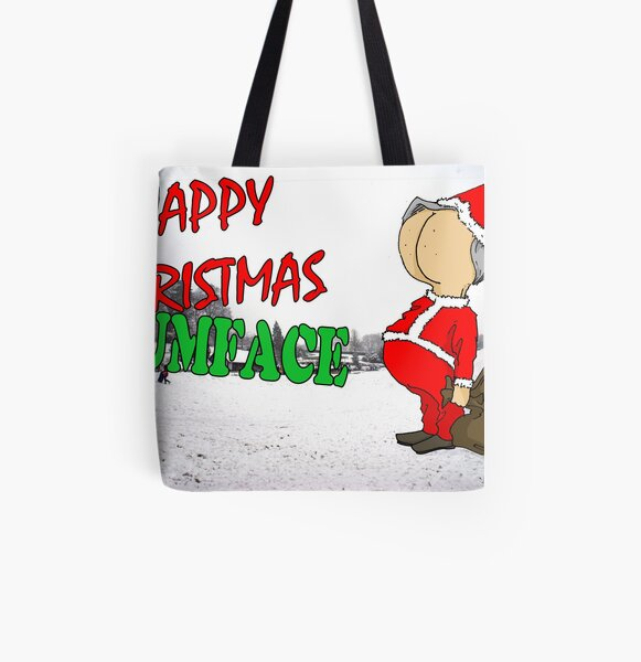 Happy Christmas Bumface All Over Print Tote Bag