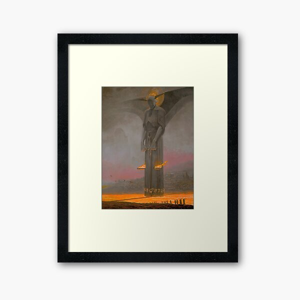 Justitia Infernalis_by Wayne Barlowe Framed Art Print