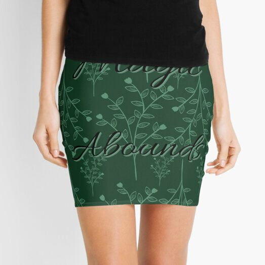 Magic Abounds - Whimsical Trees  Mini Skirt